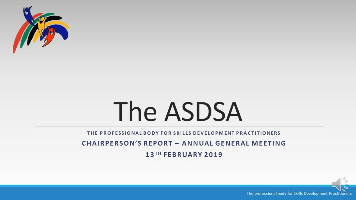 Chairperson report AGM Feb 2019 v2